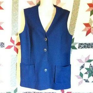 Jackets & Blazers - Vintage NavyBlue Button Up Vest